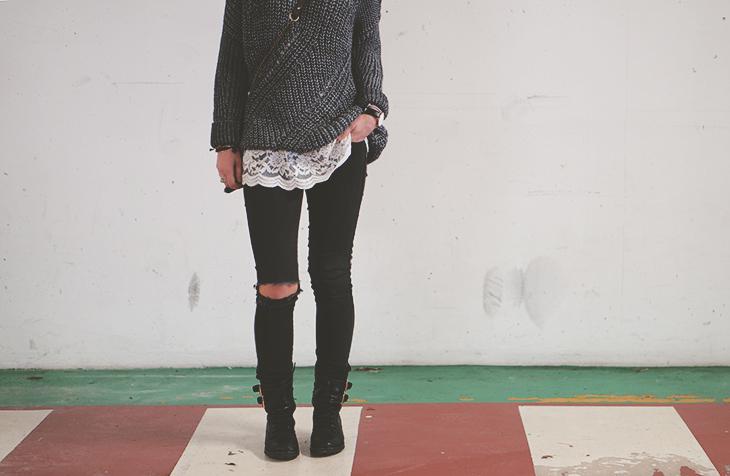 1_look_blog_mode_pull_eleven_paris_tunique_robe_dentelle_sac_mohekann_boots_jonak