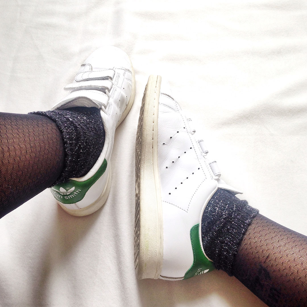 2_look_blog_mode_nantes_collants_gambettes_box_chaussettes_lurex_stan_smith_adidas_velcro