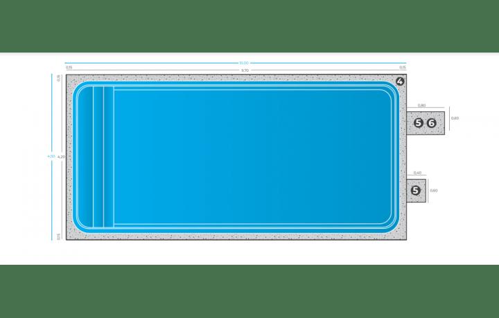 piscine forme rectangulaire 9m70x4m20x1m50 bien installer une piscine coque n est pas a la portee du premier venu