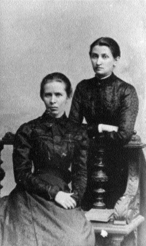 Леся Украинка и Ольга Кобылянская. Черновцы. Фото 1901 г.