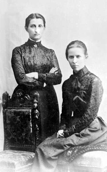 Ольга Кобилянська і Леся Українка. Чернівці. Фото 1901 р.