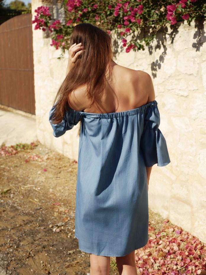 Off Shoulder Kleid nähen inkl. Tutorial & Gratis-Schnittmuster
