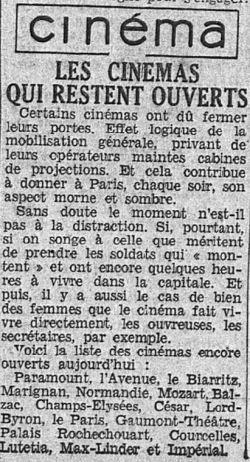 l'Intransigeant du 4 septembre 1939