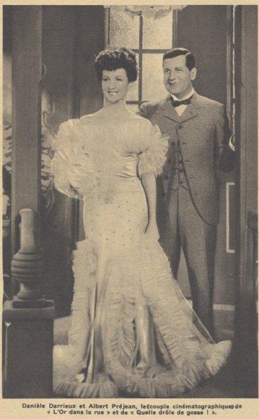Danielle Darrieux et Albert Préjean (Pour Vous 30.05.1935)