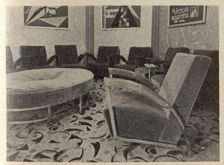 le fumoir de l'Olympia (Cinémagazine 1930)