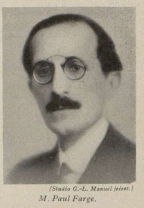 Paul Farge (Cinémagazine 1930)