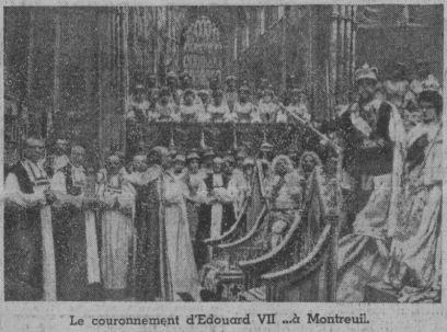 Le Couronnement d'Edouard VII à Montreuil (Pairs-Soir 1937)