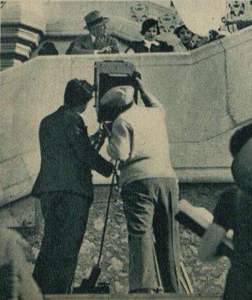 Maurice Tourneur sur le tournage de Justin de Marseille (Cinémagazine 18 avril 1935)