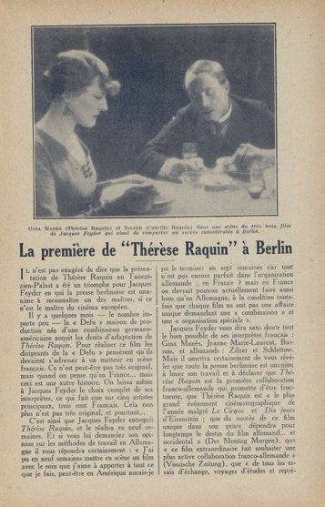 Cinémagazine du 09 mars 1928