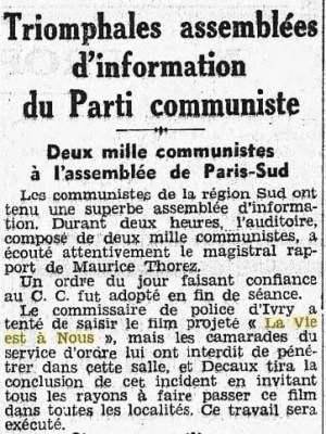 L'Humanité du 20 mai 1936