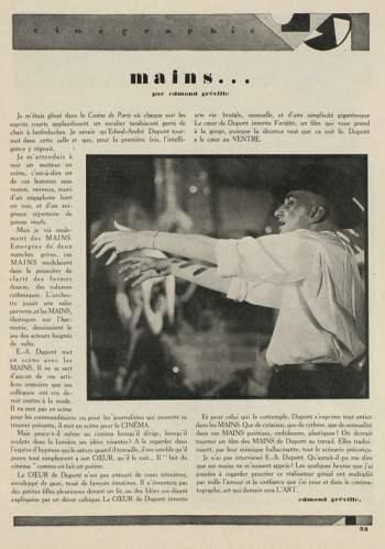 Cinégraphie du 15 octobre 1927