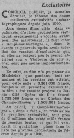 Comoedia du 9 octobre 1943