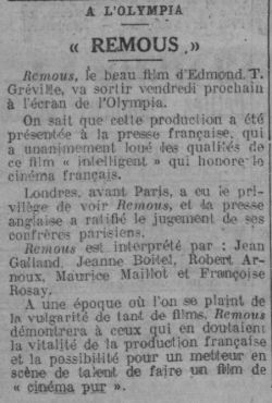 Comoedia du 19 mars 1935