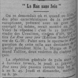 Comoedia du 17 janvier 1926