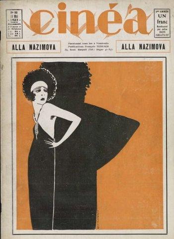 La couverture du spécial Alla Nazimova dans Cinéa du 18 mai 1923