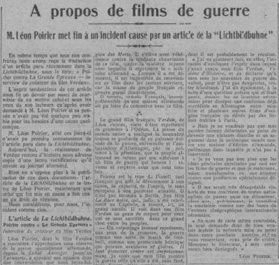 paru dans Comoedia du 5 janvier 1929