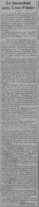 paru dans Comoedia du 28 février 1928