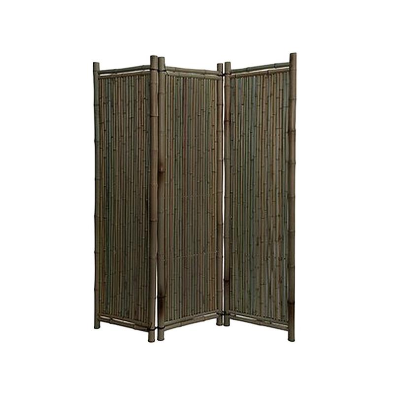 paravent exterieur bambou noir h 180