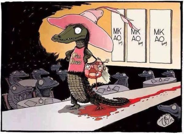 Illustration antispéciste de Vin Paneccasio inversant le rapport animal et humain afin de changer la manière dont nous traitons les animaux non-humains.