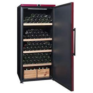 La Sommelière – Cave à vin de vieillissement – VIP265P – 265 bouteilles – Porte pleine, coloris bordeaux