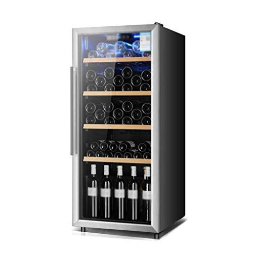 Grand Cabinet Beverage Réfrigérateur Rouge Blanc Cave à vin Bière Soda en verre transparent Porte d'entrée, comptoir bar Fonctionnement silencieux Réfrigérateur Compresseur, Bars de glace for la maiso