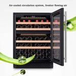 HEMFV Cave à vin, 39 Bouteilles de vin Réfrigérateur Contrôle d'humidité numérique Intelligent Compresseur intégré ou autoportantes Caves à vin for la Maison Bar Bureau (Color : Black)