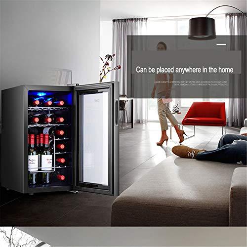 JIAODIE Cave à boissons, appareil de refroidissement, refroidisseur à vin, accumulateur d'humidité électronique, refroidisseur à cigares (couleur : noir, dimensions : 34 x 49 x 66 cm)
