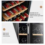 JIAODIE Cave à vin avec porte en verre et porte en verre – Réfrigérateur de boissons – Rafraîchisseur à vin électronique – Couleur : noir – Dimensions : 43 x 45 x 64 cm