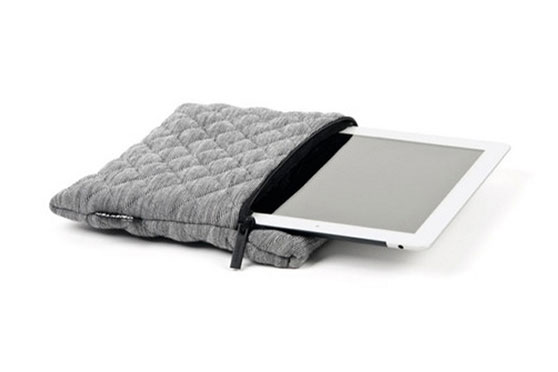 Housse iPad Quilted (Gris Chiné)