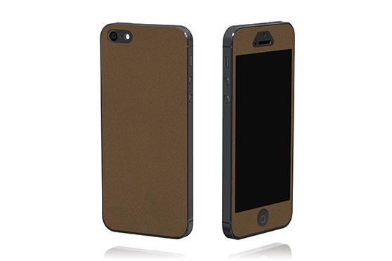Sticker en cuir pour iPhone 5 The Surface Collection (Marron)