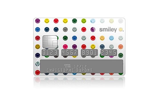 Sticker Carte Bleue Smiley Points