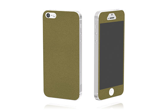 Sticker en cuir pour iPhone 5 The Surface Collection (Vert)