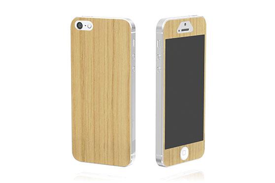 Sticker en bois pour iPhone 5 (Chêne)