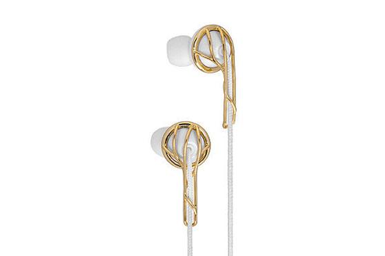 Ecouteur ELLA B (Gold / Blanc)