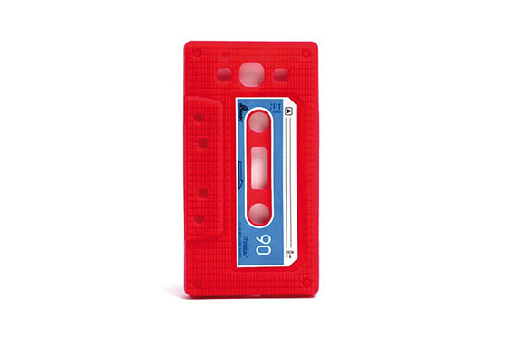 Coque Retro Cassette Galaxy S3 (Rouge)