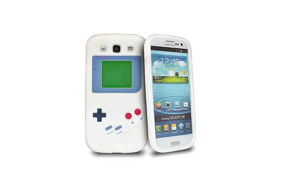 Coque Vintage Game Boy Galaxy S3 (Blanc)