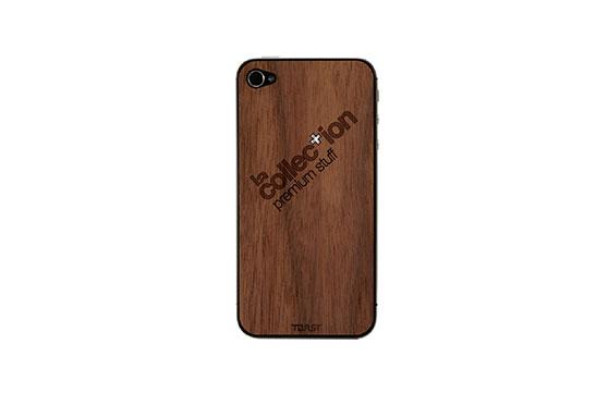 Sticker iPhone 4/4S en bois La Collection (Noyer)