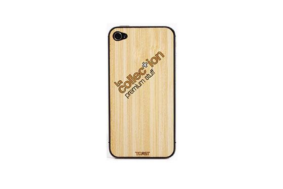 Sticker iPhone 4/4S en bois La Collection (Bambou)