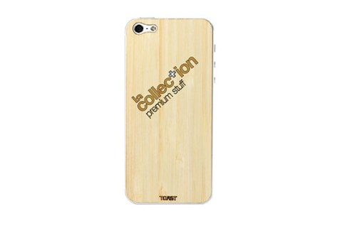 Sticker iPhone 5 en bois La Collection (Bambou)