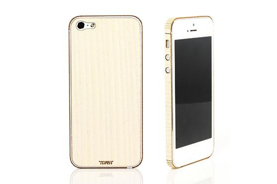 Sticker iPhone 5 en bois (Frêne)
