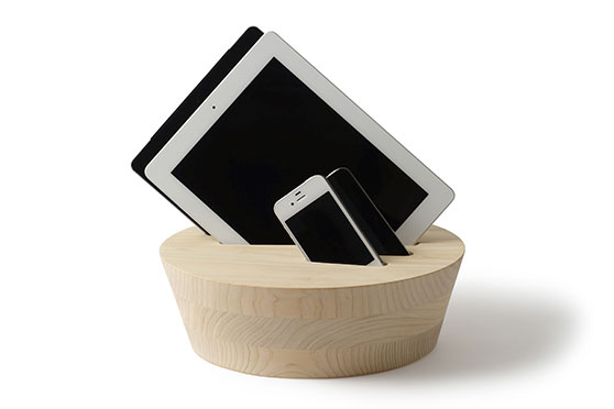 Support Téléphone et Tablette Sakai Design bois