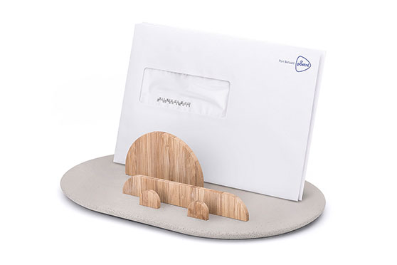 Support de bureau Post Office Bamboo/Concrete
