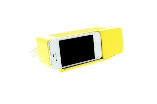Support Alarm Dock pour iPhone 4/4S (Jaune)