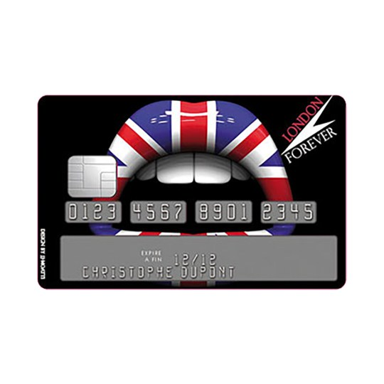 Sticker Carte Bleue Lips London Forever