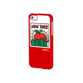 Keith Haring Collection - Coque iPhone 5/5S/SE Big Apple et écouteurs Rouge