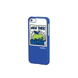 Keith Haring Collection - Coque iPhone 5/5S/SE Big Apple et écouteurs Bleu