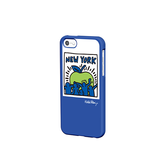 Keith Haring Collection - Coque iPhone 5/5S/SE Big Apple et écouteurs Bleu