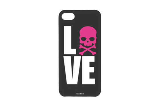 Coque iPhone 5 Pauker Love Noir