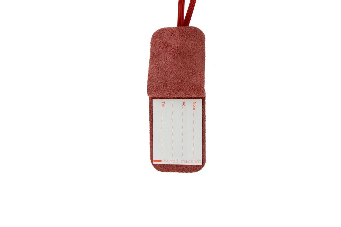 Etiquette de Bagage Cuir (BORDEAU)