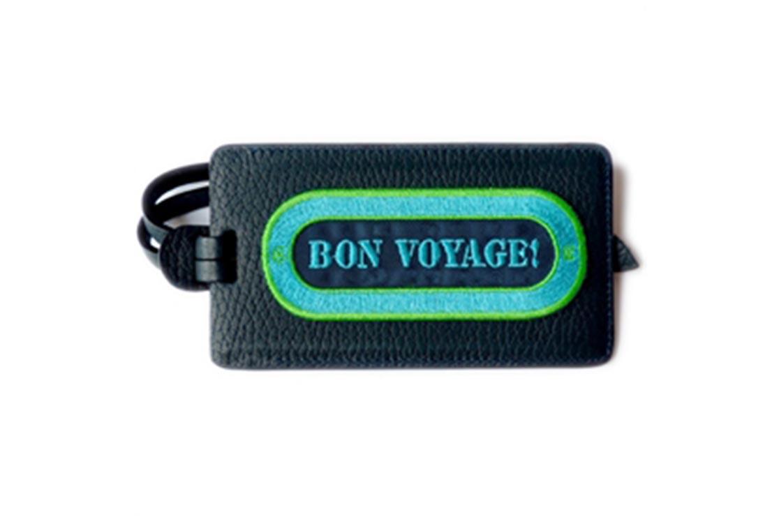 Etiquette bagage BON VOYAGE (BLEU)